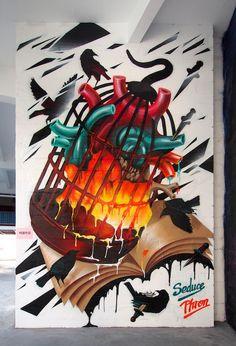 cool graffiti works from guangzhou-based artist PHRON /// NeochaEDGE ///