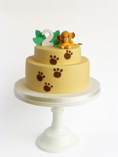 Lion King Cake ideas - Samuel's First Birthday Baby Cakes, Cupcake Cakes, Lion Party, Lion King Party, Lion Cakes, Lion King Cakes, Simba Y Nala, Bolo Da Peppa Pig, Lion King Theme