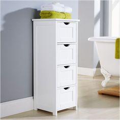 white multi use bathroom storage unit 4 drawer cabinet cupboard from bathroom storage unit white - Bathroom Cabinets Target