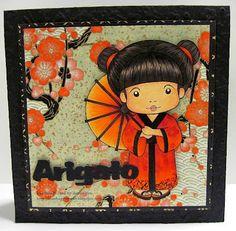 La La Land Kimono Marci Skin: E50, E51. E01 (also for blush), E11 Hair: E79, E77; Hair ribbon: R46, YR04, YR02; Kimono: R46, YR04, YR02, R29, 100; Slippers: 100, R46, YR04; Socks: E40; Umbrella: E49. R46, YR04, YR02, Y21 (center to outward)
