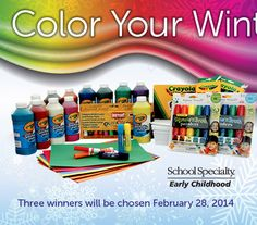 Win Color Your Winter Art Supplies Prize Pack Giveaway! (3 Winners)