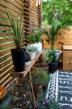 Dekoideen Terrasse Dekorationen Auf Terrasse Tisch Sessel Blumen In Töpfe  Kerzen Lampen Pflanzen   Terrasse Und Balkon   Pinterest   Hygge