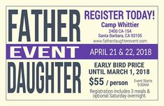The Father Daughter Event website is up and ready to receive your registration! Event Website, Daddys Little Girls, Fathers Love, Father Daughter, Quotes, Quotations, Quote, Shut Up Quotes