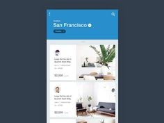 Houses For Rent #ui #ux #animation #mobile #dribbble #gif #ios #iphone #interface #design