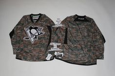 Pittsburgh Penguins Reebok NHL 2013 Edge Camouflage Pre-game Warm up Jersey 55495a3c7