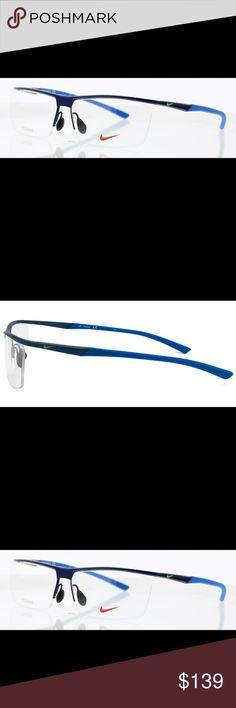 Nike Eyeglass Frames 6061 054 58-13-140 100% Authentic Nike product Brand: Nike Type: Eyeglasses Model: NIKE 6061  Gender: Male Material:Titanium, Acetate Nike Accessories Glasses