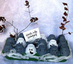 Halloween - Egg Carton Ghosts Craft Project