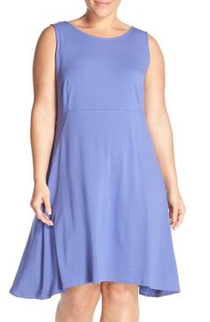 Eileen Fisher Sleeveless Jersey Bateau Neck Dress (Plus Size) available at #Nordstrom