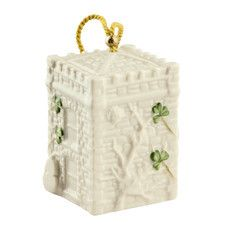 Shamrock Christmas Castle Caldwell Gate House Annual Bell Ornament