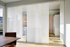 Raumteiler Vorhang Weiß Mit Schiebegardinen Flächenvorhänge Für Teiler Zwischen Küche Und Esszimmer Ideen