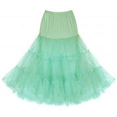 "Mint Green Net Petticoat 26"" | Vintage Inspired Fashion - Lindy Bop"