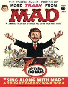 Mad Magazine, Magazine Covers, Magazine Rack, Alfred E Neuman, American Humor, Jack Davis, Parody Songs, Ec Comics, Mad World