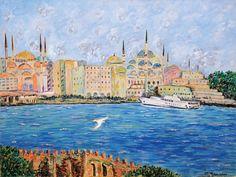 Μαρία Μουριάδου - Κωνσταντινούπολη. Λάδι σε καμβά, 60 x 80 εκ.