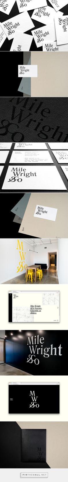Mile Wright & Co. Brand identity, visual identity, branding, classic, simple, minimal.