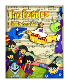 Yellow Submarine Rock and Roll Nursery Art Print by ApplewoodKnoll, $25.00