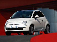 #7. Fiat 500 -Pearl White.