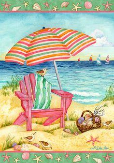 Custom Decor Flag - Beach Chair Decorative Flag at Garden House Flags at GardenHouseFlags