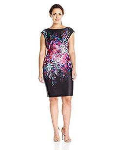Amazon.com: Julia Jordan Women's Plus-Size Floral Sheath Dress: Clothing