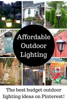 When the sun goes down, I love the ambience of twinkling lights. These outdoor lighting ideas will brighten up your space and provide a special outdoor space that will give your summer evenings you will never forget.