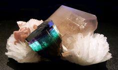 Tourmaline var. Elbaite on Quartz with Cleavelandite and Lepidolite ~ Pederneira claim, São José da Safira, Doce valley, Minas Gerais, Brazil