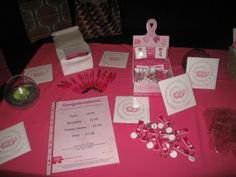 Lots of pink merchandise for sale at the Ladies Lunch #pink #fundraising #breastcancer