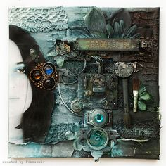 A canvas collage layout by Finnabair