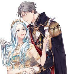 An Aries Man always Will be in love with her! Pelo Anime, Chica Anime Manga, Anime Couples Manga, Cute Anime Couples, Kawaii Anime, Anime Love Couple, Couple Art, Fantasy Couples, Romantic Manga