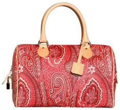 Etro Multicolor Boston Color Paisley Printed Pvc Bag