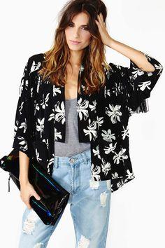 Posy Kimono Jacket  @NASTY GAL