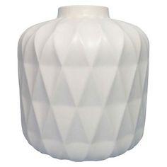 """8"""" Blue Stoneware Vase - Threshold"""