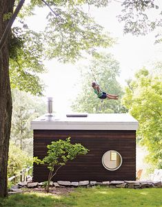 A Family Builds a Tiny Backyard Studio on an Even Tinier Budget | Dwell