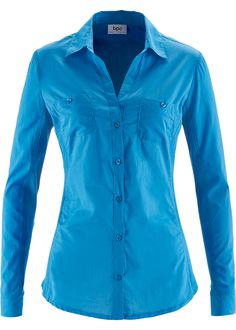 Bonprix  bpc bonprix collection, turkoois blauw katoen blouse bright blue cotton blouse