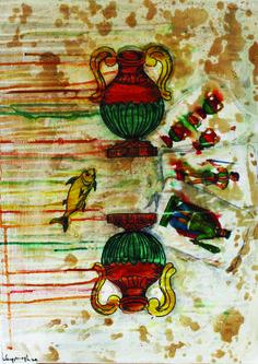 Sicilia, il Gioco della Tradizione tecnica mista su tela 50x35 cm € 200,00