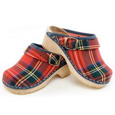 Scottish Tartan Clogs. I love tartan, I would wear these.