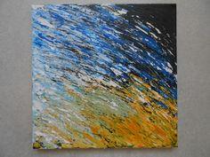 Woeste Golf, acryl op doek, 30x30, 2014