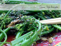 Chinese Style Broccolini  | Popular Paleo
