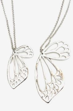 Large Butterfly Wing Necklace