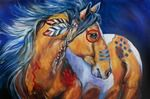 BOLD AND BRAVE INDIAN WAR HORSE Art Prints by Marcia Baldwin - Shop Canvas and Framed Wall Art Prints at Imagekind.com