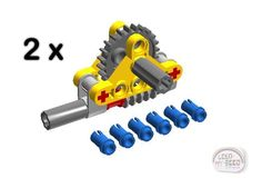 LEGO Technic - 2 x Perpendicular Gear Reduction Assembly - New - (NXT,EV3,Robot) #LEGO