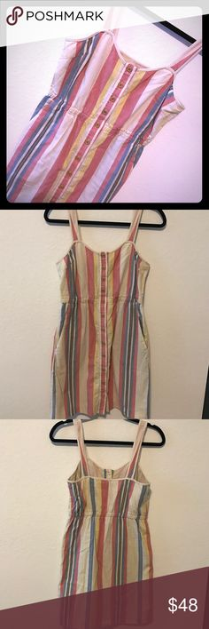I ❤️ RONSON DRESS STRIPES I ❤️ RONSON, size XS, hipster dress with stripes with pickets, elastic waist, buttons in the front, not missing any buttons, Item#52.                                        💗Condition: EUC, No flaws 💗Smoke free home 💗No trades, No returns 💗No modeling  💗Shipping next day 💗OPEN TO reasonable OFFERS  💗BUNDLE and save more 💗All transactions video recorded to ensure quality. i 'heart' ronson Dresses Midi