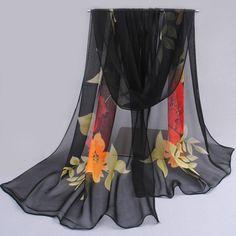 2017 pashmina de la manera bufanda nuevo diseño floral del mantón de la gasa de seda Del Cabo Tippet silenciador Bufandas calientes de la venta envío libre