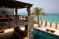Private Retreat Bedroom Balcony at Six Senses Zighy Bay, Oman. www.sixsenses.com