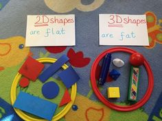 Sorting 2d and 3d shapes