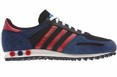 Adidas Originals Men's La Trainers Navy/Red  #AdidasOriginals #FashionTrainers