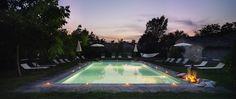 Monastero San Silvestro Cortona piscina al tramonto