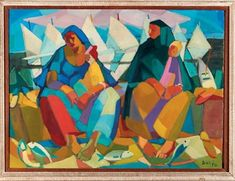 View Femmes et enfants vendant la pêche by Seif Wanly on artnet. Browse upcoming and past auction lots by Seif Wanly. Islamic Art, Egyptian, Modern Art, Past, Auction, Paintings, Women, Children, Past Tense