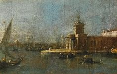 Francesco Guardi (Venice 1712 – 1793), Venice, a view of the Punta della Dogana. Photo Sotheby's