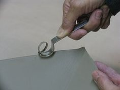 Bill van Glider edge rounder - great tool to get smooth rounded edges  #ceramics #pottery