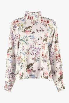 Bluse Juliet Bird Offwhite fra Floyd by Smith Off White, Floral Tops, Blouse, Long Sleeve, Sleeves, Bird, Women, Fashion, Model