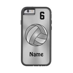 Volleyball iPhone 6 Cases Your NAME and NUMBER Tough Xtreme Iphone 6... ($56) ❤ liked on Polyvore featuring accessories and tech accessories